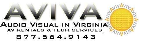 Audio visual equipment rentals and AV tech services